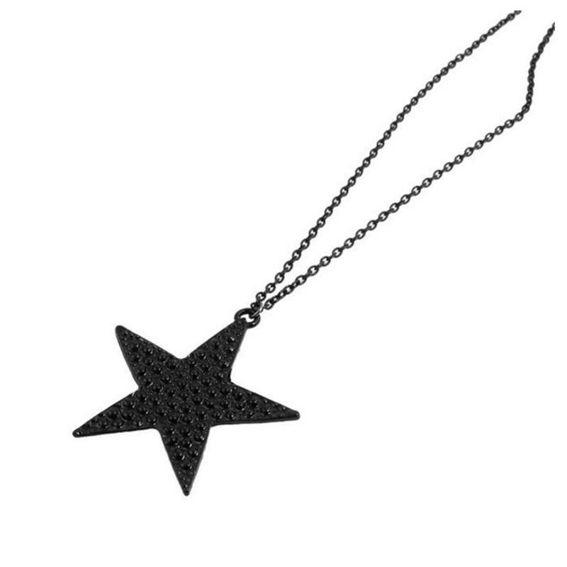 Оптовая Популярных Привлекательным Прекрасные Черные Звезды Ожерелья и Кулоны Подвески Ювелирные Изделия для Женщин Бесплатная Доставка N428