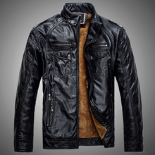 Mens Leather Jackets and Coats Pu Leather Jaqueta Couro Masculina Jacket Man Jaqueta De Couro Men's Winter Leather Jacket N00048(China (Mainland))