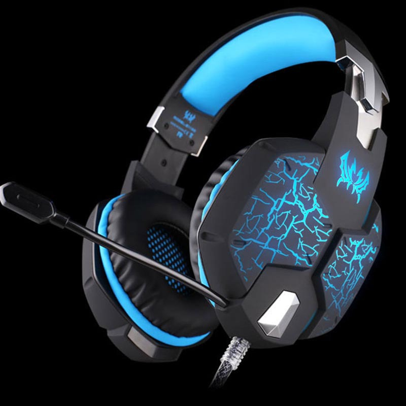 KOTION EACH G1100 Stereo Earphone Gaming Headphone Headset Headband with Mic Volume Control Stereo Bass Fission LED Light<br><br>Aliexpress