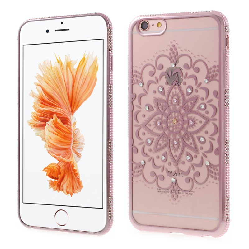 for iPhone 6 s Plus 5.5-inch TPU Back Cover Shell China Folk Art Rhinestone Plated TPU Phone Cases for iPhone 6s Plus / 6 Plus(China (Mainland))