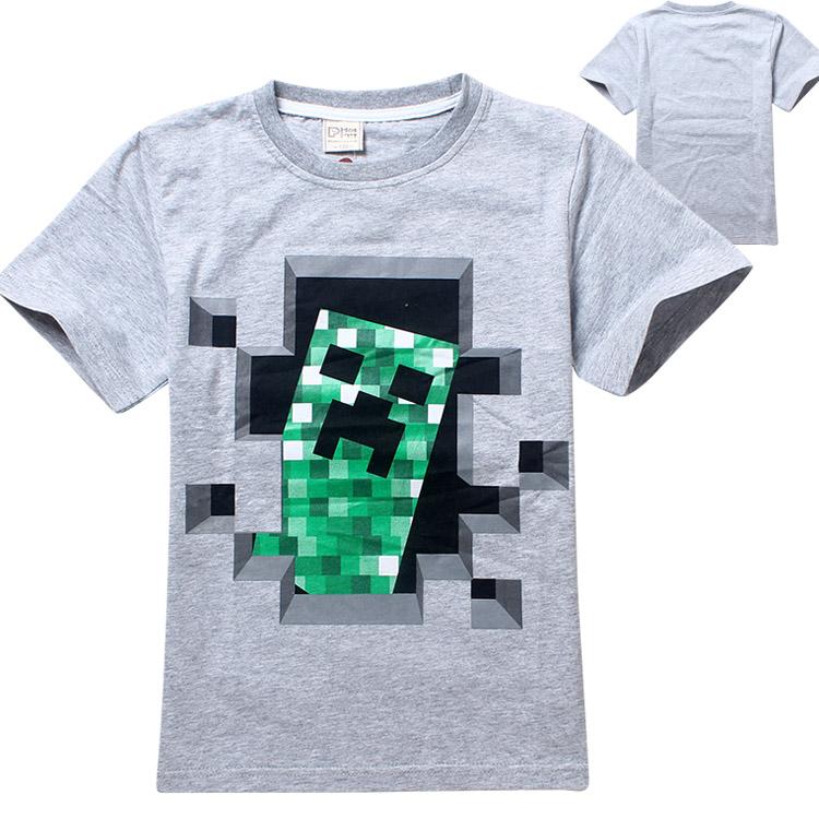 Гаджет  New cartoon minecraft children t shirts Summer boys kids short sleeve tees cotton baby Clothing girls and boys