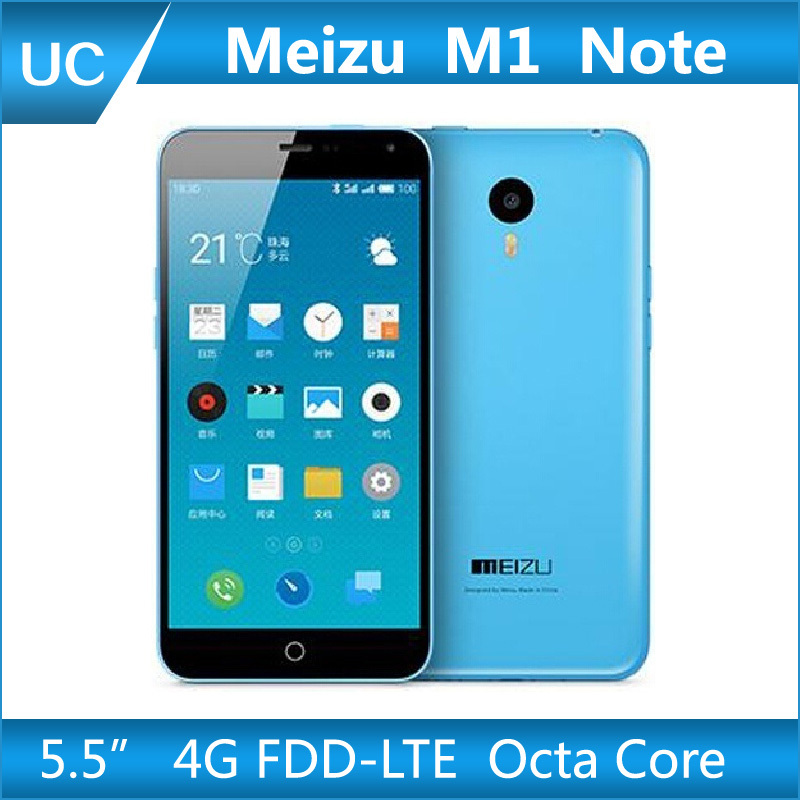 New Arrival Meizu M1 Note 4G FDD LTE Android 4.4 MTK6752 Octa Core 1.7GHz 5.5 Inch 1080P 2G RAM 13MP 3140mAh Meizu Note Phone(China (Mainland))