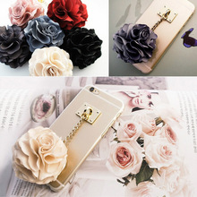 Fashion Rose Tassels Pendant phone Case cover For iphone 6 plus case Fashion for iphone 6 5.5 inch mobile phone shell CSJK0032