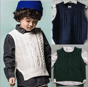 2015 new fashion spring/autumn cotton children baby knitted waistcoat sweaters boys girls retro woven vest kids outwear clothes<br><br>Aliexpress