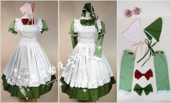 Anime APH Maid Apron Dress Axis Powers Hetalia Hungary Cosplay Costume(one dress can two dresses)