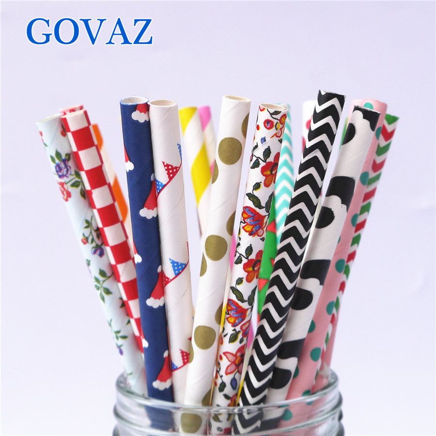 200pcs Free Shipping promotion colors Chevron Striped and Polka Dot Drinking Paper Straw Wholesale Colorful Paper Straws(China (Mainland))