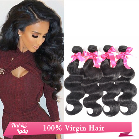 "Grade 8A Unprocessed Malaysia Virgin Body Wave Pop Hair Styling 8""-32"" 4Pcs Lot Human Hair For Sale Sally Beauty Extensions(China (Mainland))"