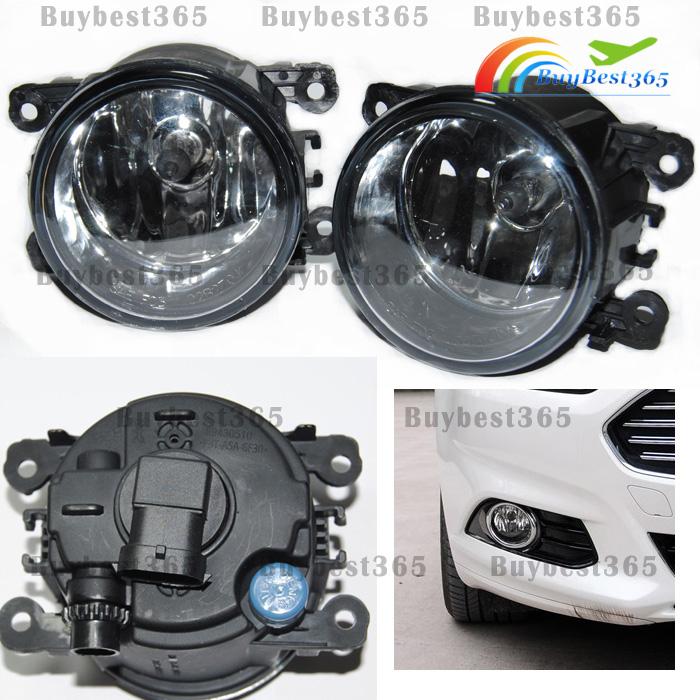 Driver Passenger Sides Fog Light Lamps + H11 Bulb For Ford Fusion Focus Explorer