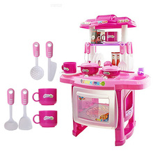 New Unisex Kitchen Toys Beauty Kitchen Cooking Toy Play set for Children and parents(Pink) FCI#(China (Mainland))