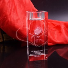 Personalized Romantic Candle Holder Art Crystal Home Decoration Gifts Party Favors(China (Mainland))