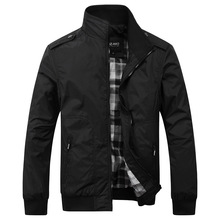 2016 New Men's Casual Jacket Collar Male Fashion Solid Color Men Business Jacket Coats Brand Black Green Khaki Size M-4XL(China (Mainland))