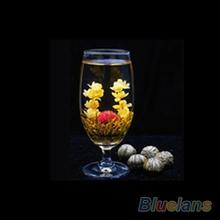4 Balls Chinese Artisan Different Handmade Blooming Flower Green Tea 1DNE
