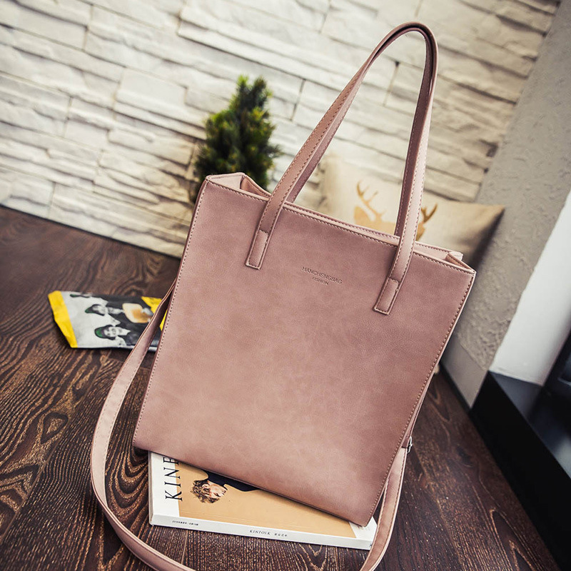 2016 New Women Leather Handbags Messenger Bags Japanese and Korean Fashion Simple Style Tote(China (Mainland))