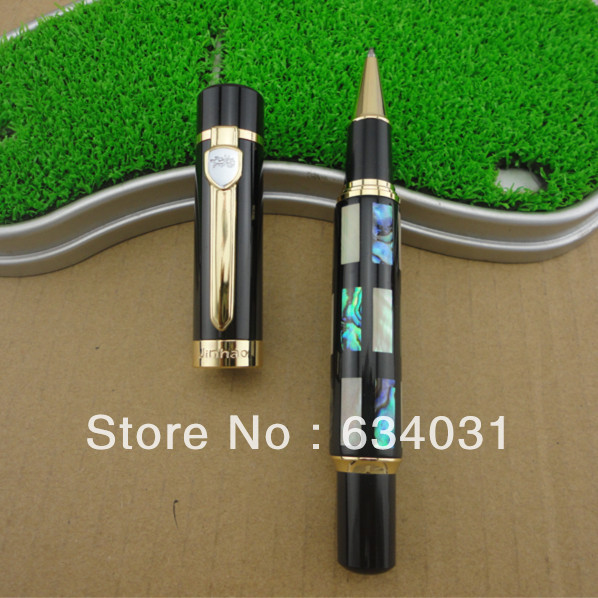 Wholesale sales promotion jinhao 5654 noble carver M ball-point pen/steel/metal/dragon/gift/gold/free shipping<br><br>Aliexpress