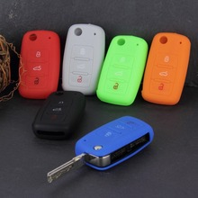 Universal Silicone Car Key Holder Case Cover Candy Color Turma do Chaves Case Car Accessories for Volkswagen VW(China (Mainland))