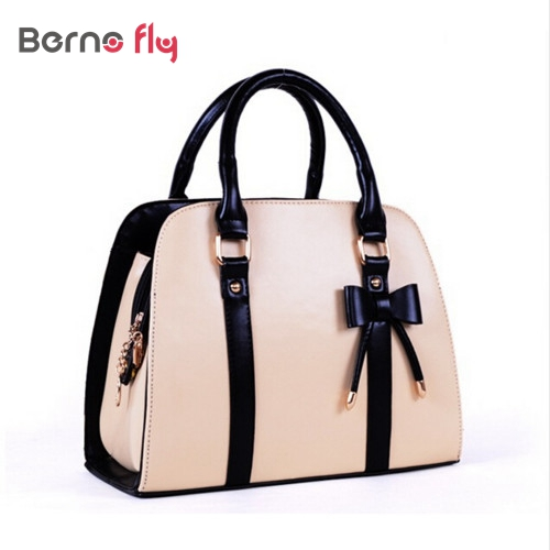 2016 New Women Messenger Bag with Bow women PU Leather Handbag 8 colors Shoulder crossbody Bags Ladies Casual Tote(China (Mainland))