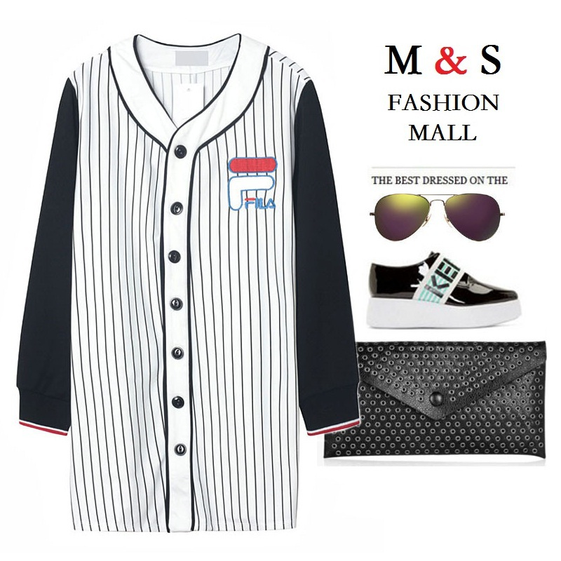Melinda Style 2015 new women jacket sport style vertican striped embroidery letter outwear fashion top free shipping(China (Mainland))