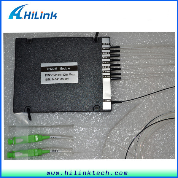 2pcs/lot Fiber Optic 8 Channels CWDM Multiplexer 1470~1610nm with LC/UPC Connectors in ABS Box China Supplier Good Price(China (Mainland))