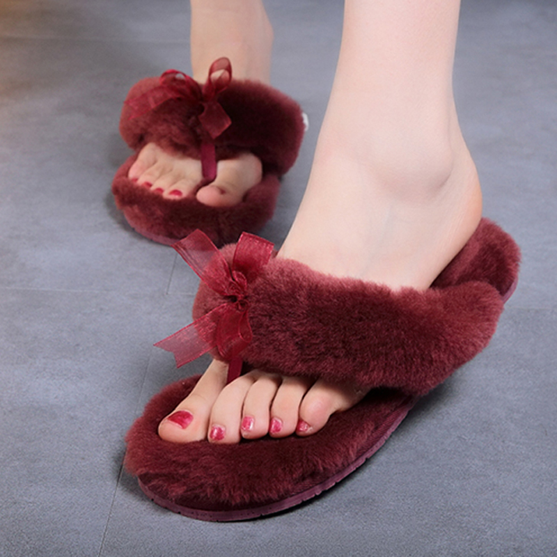 2016 New Women Comfortable Fur Slippers indoor Shoes Wool Slipper Home Footwear Flat Heel 14 colors Fashion House Slippers(China (Mainland))