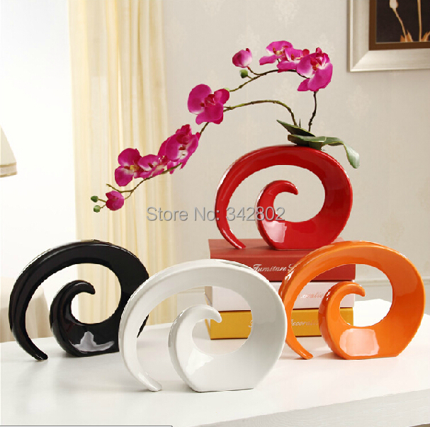 Hot sale modern high quality ceramic tabletop vase for for Home decor items on sale