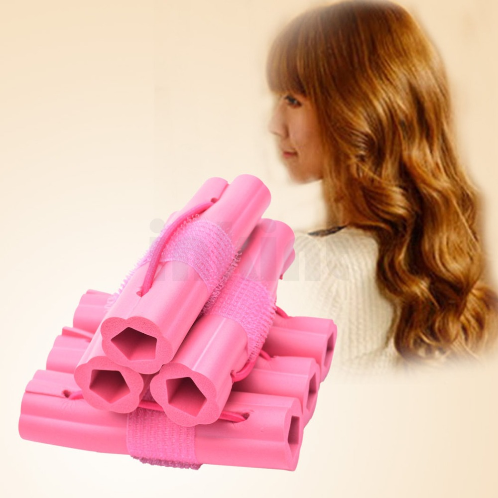 2015 Hot 6pcs Magic Hair Curler Fashion Sponge Hair Roller Hair Styling DIY plastic hair rollers HS41 47 Z(China (Mainland))