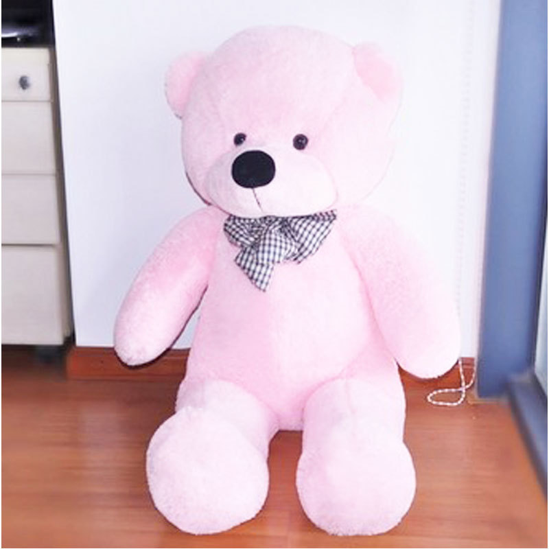 Hot Sale 100CM Cute Teddy Bear Pink Giant Big Cute Plush 100% Cotton Huge Soft Toy Gift DTZE #53446(China (Mainland))