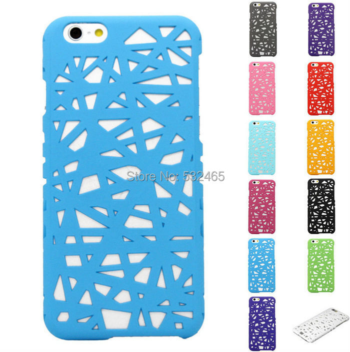 "Hot Sell 2008 Olympic Stadium Bird's Nest Design Hollow Plastic Case for Apple Iphone 6 4.7"" 100pcs/lot(China (Mainland))"