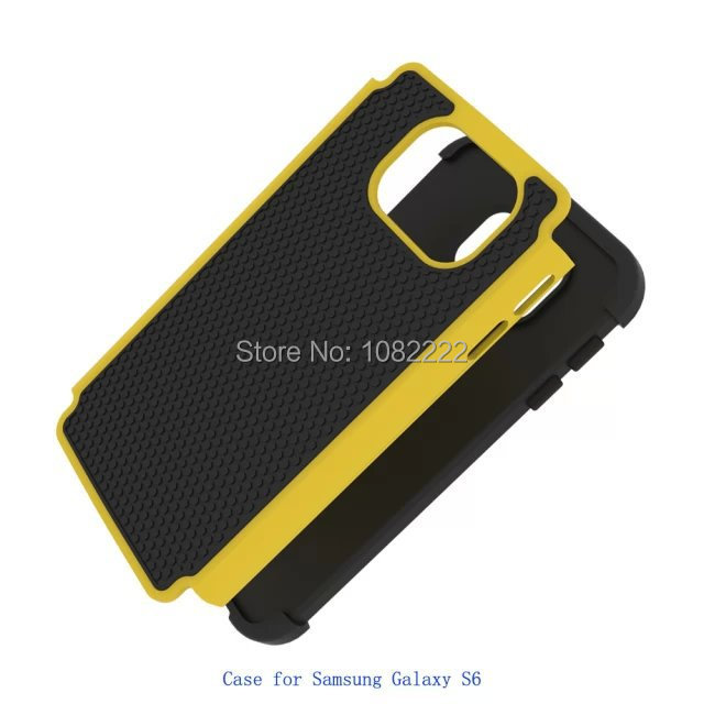 Free Shipping New Football Design 3 in 1 Silicon +PC Hybrid Back Cover For Samsung Galaxy S6 G9200(China (Mainland))
