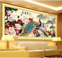 Комплект для рукоделия, DIY вышивки крестом, комплект для вышивания, пион цветок цветочный птица павлин узор вышивки крестом животное живопись