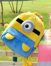 Free Shipping Despicable Me Minion Backpack School Bag Children Mochila Infantil Kids Backpacks Shoulder Bag Gift(China (Mainland))