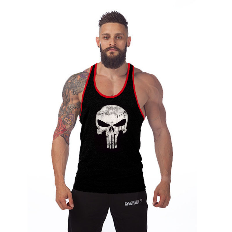 Bodybuilding Men Tank Top Undershirt Gym Training Stringer Singlet Sleeveless 100% Cotton Sport Golds Gym Shark Vest Clothes(China (Mainland))