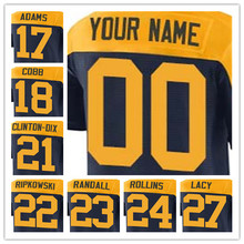 100% Stitched With Customized #17 Davante #18 Randall #21 Ha Ha #22 Aaron #23 Damarious Elite Navy Blue Alternate Jersey(China (Mainland))