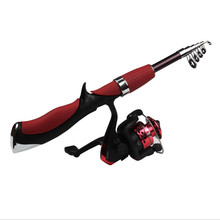 Rod Combo 1.4 M high quality New Spinning Reel Professional fine fishing Ultrashort convenient rod fishing reels combination(China (Mainland))
