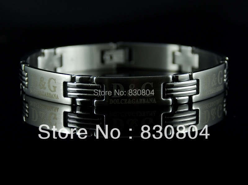 YYBR2041301 silver stainless steel bracelet mens inlay brand bangle chain italy designer christmas cool gift - Online Store 830804 store