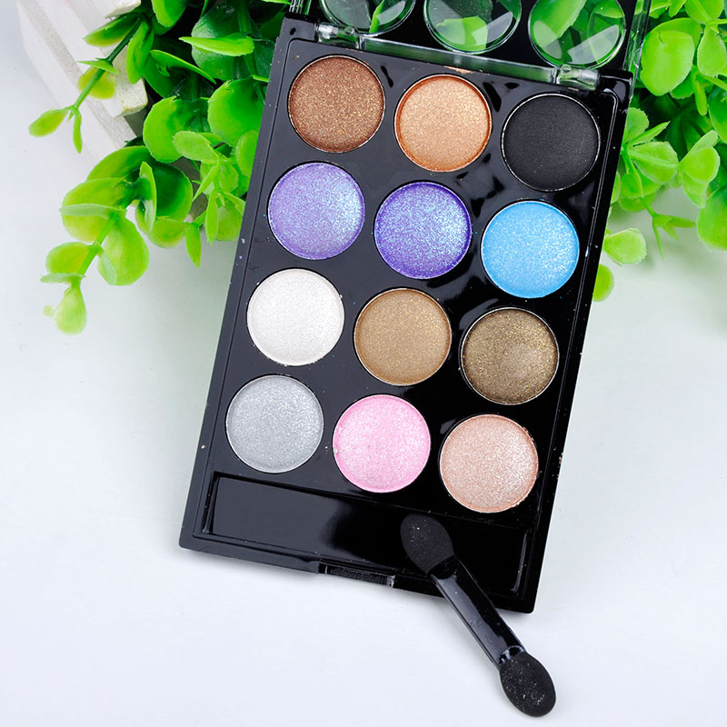Professional 12 colors eyeshadow palette makeup maquiagem beauty palette eye shadow women Cosmetic Tools F60*HJ1034W(China (Mainland))
