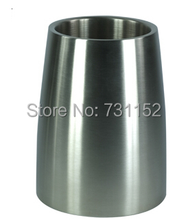 Hotel bar club wine tool double walls 1 bottle stainless steel wine cooler wine chillers wine bucket(China (Mainland))