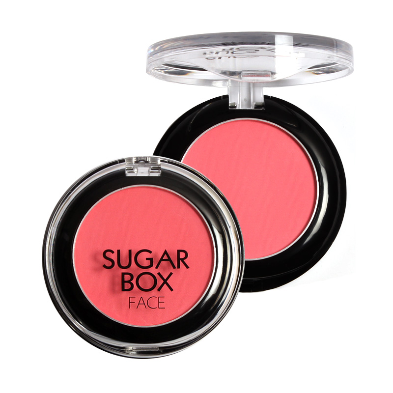 Sugar Box Brand 8 Colours Sweet Peach Blush Face Palette New Make Up Blusher Sleek Rouge Cosmetics With Makeup Brushes KJDSB012(China (Mainland))