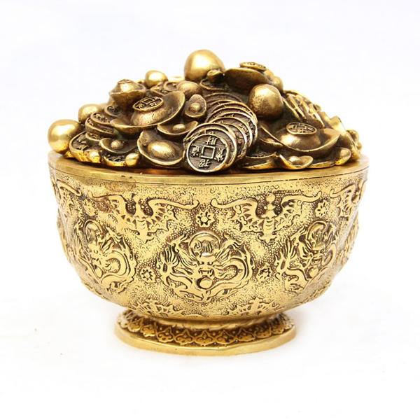 copper large bowl gold decoration large feng shui decoration on alibaba group. Black Bedroom Furniture Sets. Home Design Ideas