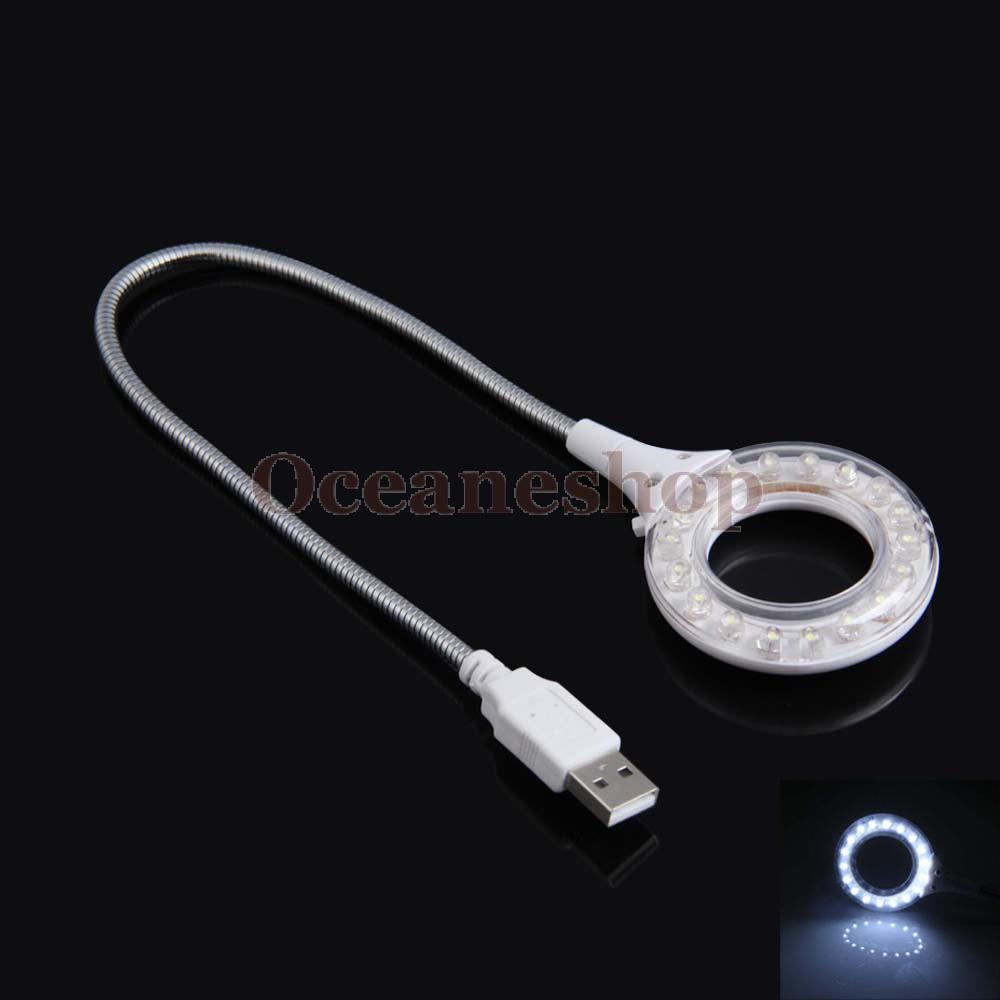 OCEA Portable 18 LED USB Lamp Light with Switch for PC Laptop Notebook White(China (Mainland))