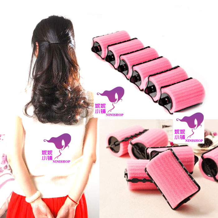 6pieces-pack-Sponge-Hair-Rollers-With-Clip-Foam-Hair-Curlers-Easy