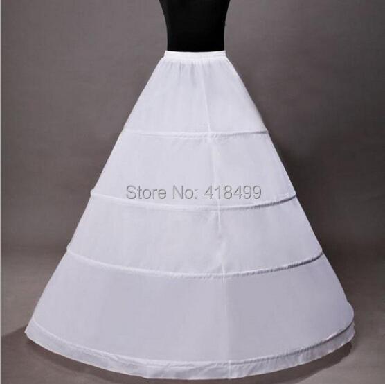 2014 cheap white 4 hoop a line crinoline petticoat skirt