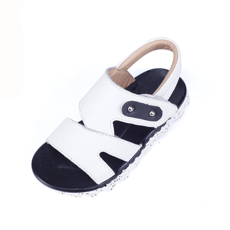 2016 children shoes child leather sandals male child slip-resistant open toe sandals summer leather sandals children size(China (Mainland))