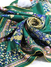 Vintage Floral Print 100% Twill Silk Scarf, Charming Square Scarves Wraps Shawl Cape 90cm Accessory(China (Mainland))