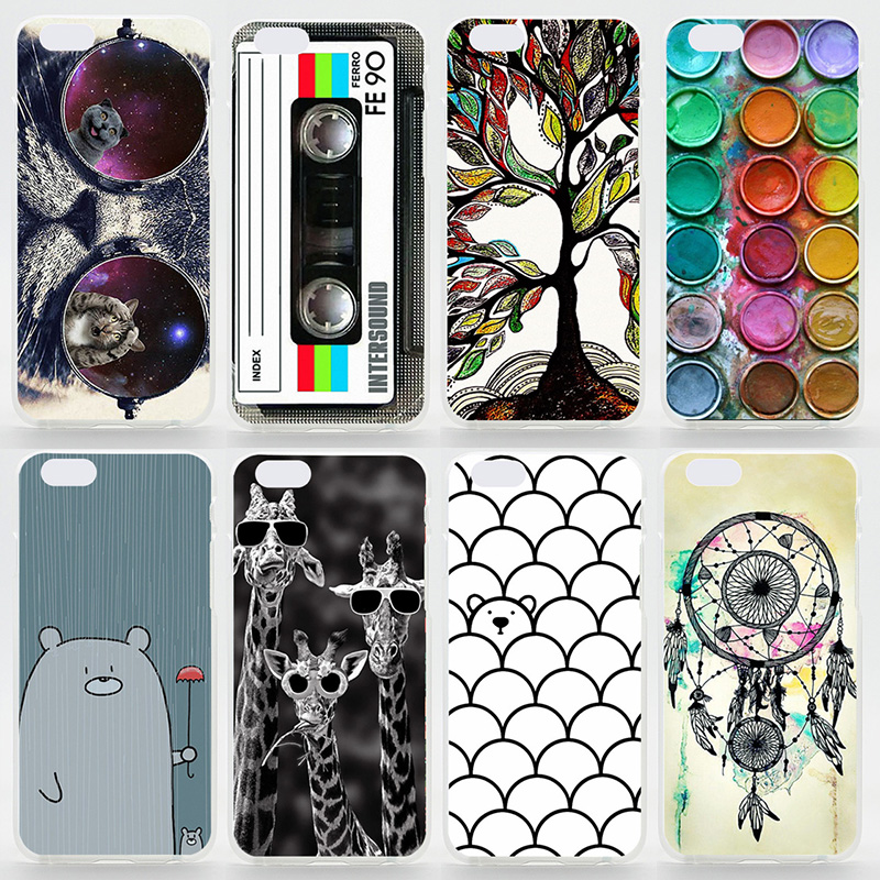 Case For iPhone 4s 5 5s SE 5c 6 6s Plus Matte Transparent Coloured Drawing Phone Cover For iPhone 4 Plastic Hard Phone Cases(China (Mainland))