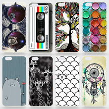 Case For iPhone 4s 5 5s SE 5c 6 6s Plus Matte Transparent Coloured Drawing Phone Cover For iPhone 4 Plastic Hard Phone Cases