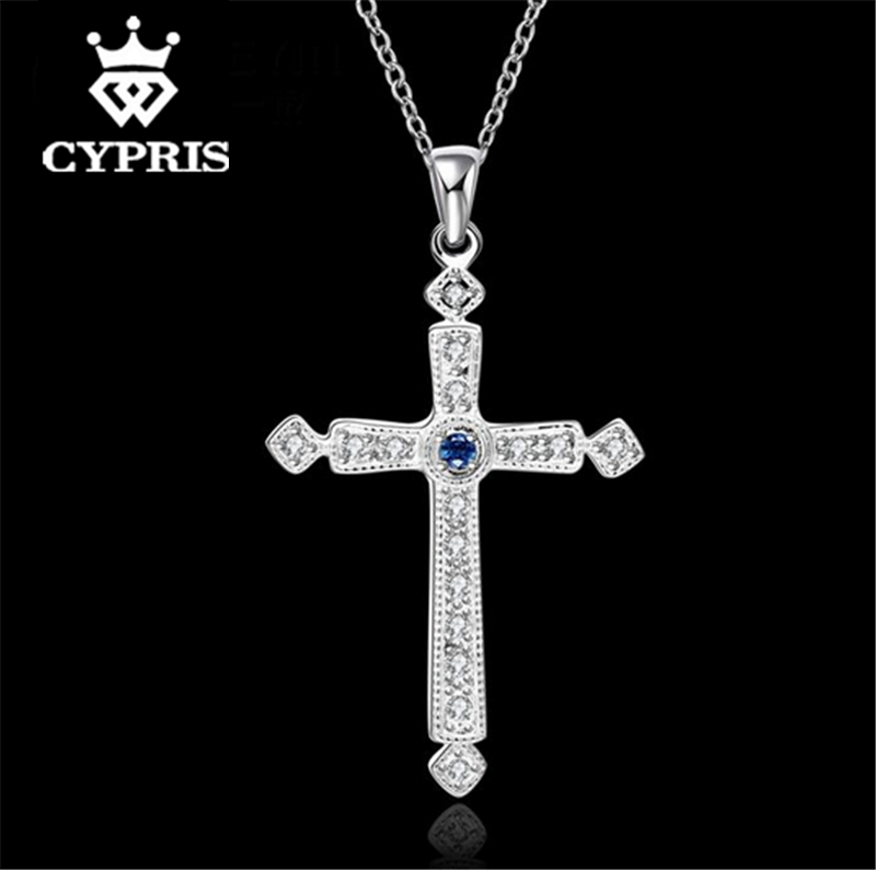 N666-B 2016 hot Fashion silver Cross rolo chain 18inch Pendant necklace unisex jewelry collares populares Halskette CYPRIS(China (Mainland))