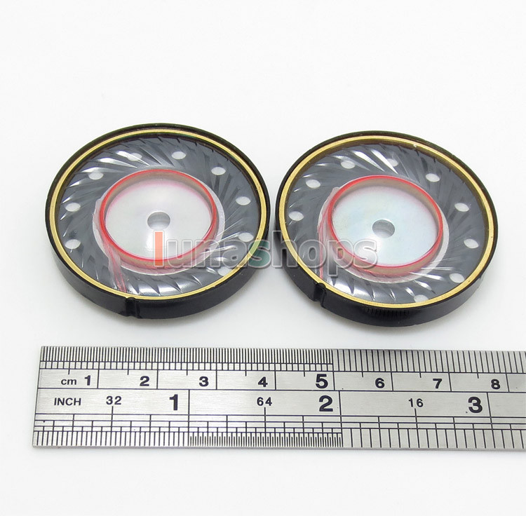 1 Pair Dia 40mm Repair Parts Speaker Unit For DIY Monster Etc. Headphone LN004420<br><br>Aliexpress