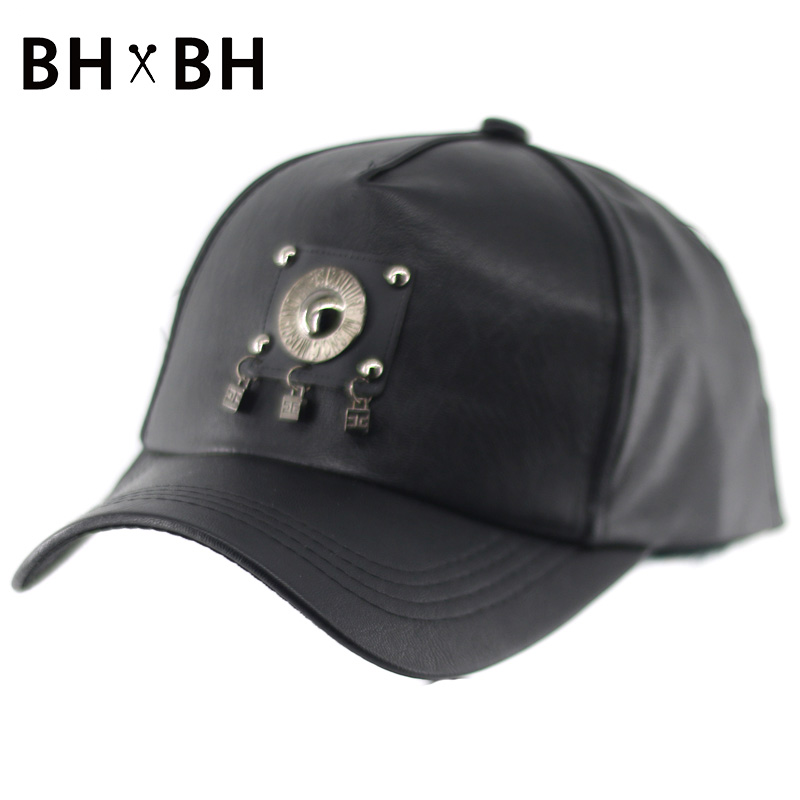 2016 Fashion unisex baseball hat casual outdoor sports cap PU chapeau adjustable sun snapback for men and women BH-LDL029(China (Mainland))