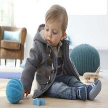 1pcs Retail  2016 New Arrive baby boys overcoat fashion boy's tweed coat New Winter toddler thick jacket XMZ045(China (Mainland))