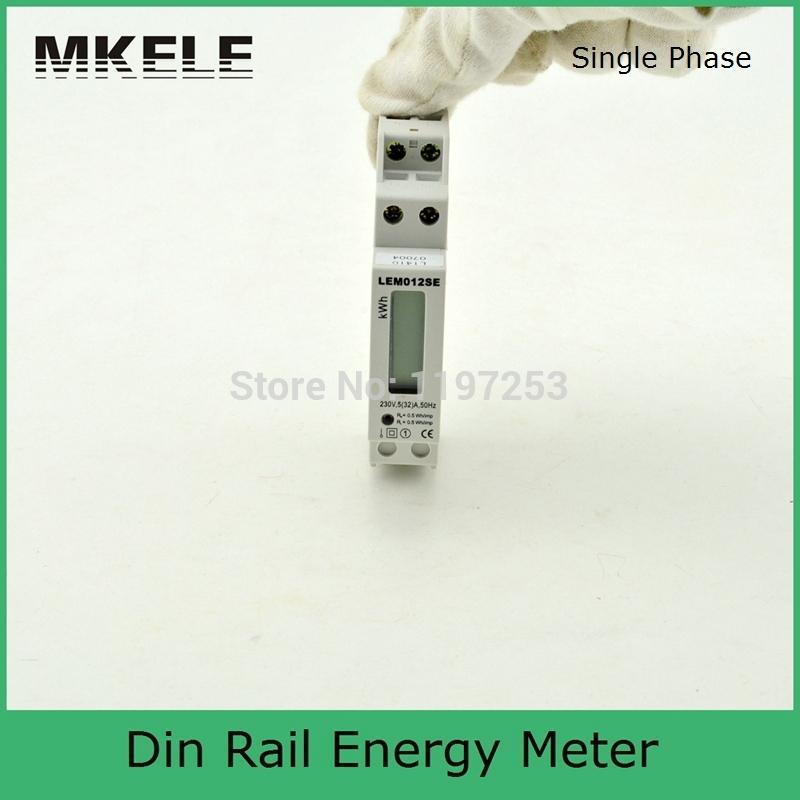 Din Rail MK-LEM012SE smart energy meter Single phase Din rail Digital KWH Watt hour din-rail energy meter monitor LCD wattmeter(China (Mainland))